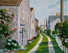 Original Nantucket paintings - Artist Christopher Wheat -Christopher Wheat Fine art investment paintings