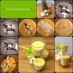 Schneller Start in die neue Woche: *** Mango-Ananas-Smoothie *** … frisch & gesund