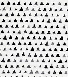 Keepsake Calico™ Cotton Fabric-Black Shaded Triangle