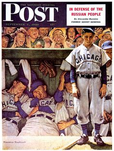 September 4,1948 - The Dugout - by Norman Rockwell  Saturday Evening Post