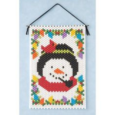 Snowman and Cardinal Beaded Banner Kit by Mary Maxim $8.99