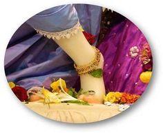 Today's Darshan Lotusfeet of Sri Krishna @ISKCONNVCC, Pune