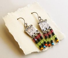 RESERVED Poco Colores Sterling Silver Boho Dangle by PrivateRoad