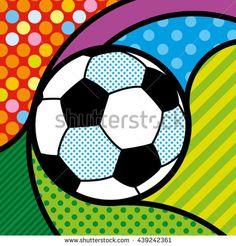 POP ART FOOTBALL SOCCER BALL