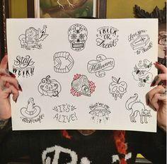 Tattoo flash by Megan Massacre