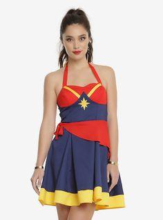 Marvel Captain Marvel Halter Dress, MULTI