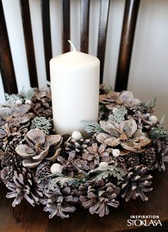 Craft Business, Haberdashery, Christmas Wreaths, Candle Holders, Candles, Holiday Decor, Fabric, Crafts, Inspiration