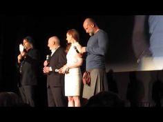 Sam Heughan Caitriona Balfe Tobias Menzies & cast intro 9p NYC Outlander Screening 4/1/15 - YouTube