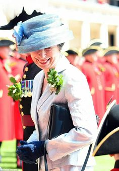 Princess Anne at the Founders Day Parade at Royal Chelsea. June 9 2016