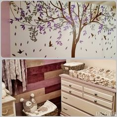 Home wall decal / make your baby room look beautiful and amazing :)  find more design in https://www.etsy.com/shop/ONWALLstudio?ref=l2-shop-header-  #room #wallDecal #nursery #tree #birds #Easytostick #home