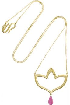 Alice Cicolini Chattri 18-karat gold, diamond and rubellite necklace | NET-A-PORTER