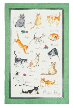 Ulster Weavers Madeleine Floyd Cats Linen Tea Towel for sale online