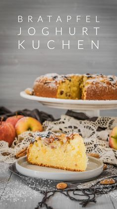 Schneller Bratapfel Joghurt Kuchen - Gifts and Costume Ideas for 2020 , Christmas Celebration Yogurt Cake, Shaped Cookie, Baked Apples, Christmas Baking, Christmas Recipes, Serving Plates, Sweet Tooth, Bakery, Food And Drink