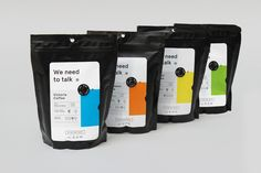 We need to talk® |Branding and Packaging for a filtered coffee that aims through interactive elements make people talk about global warming through interactive elements on the package. This project was made in collaboration with Patricia Reiners.
