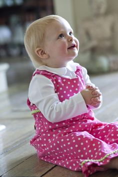 Polka dots, pink, and green - a little girl's dream!  www.orientexpressed.com