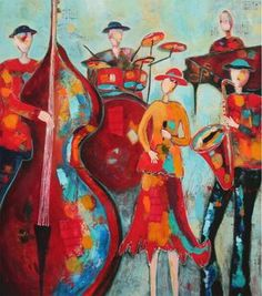 Scrivener Art & DesignFigurative Artwork —Patt Scrivener AFCA . Canadian Abstract Artist . A Night To Remember, Rhythm And Blues, Soul Sisters, Beautiful Mind, Recital, Figure Painting, Figurative, Lady In Red, Mystic