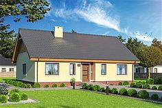 Projekt domu Endo 113,29 m2 - koszt budowy - EXTRADOM Shed, Outdoor Structures, Cabin, Mansions, House Styles, Outdoor Decor, Home Decor, Projects, Decoration Home