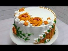 Icing Cake Design, New Cake Design, Cake Designs For Girl, Simple Cake Designs, Cake Decorating Frosting, Cake Decorating Designs, Creative Cake Decorating, Cake Decorating Videos, Birthday Cake Decorating