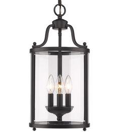 Golden Lighting 1157-3P-BLK Payton 3 Light 9 inch Black Foyer Pendant Ceiling Light #LightingNewYork