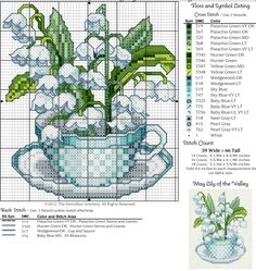 12 TEA CUPS - 5 MAY -LILY OF THE VALLEY
