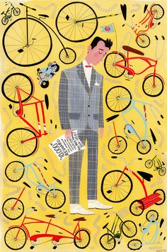 ellensurrey:  A piece I recently did for Susanita's Little Gallery's Kids Adventures show. I chose Pee Wee's Big Adventure, one of my all time favorite movies. This piece in particular was inspired by the moment after Pee Wee puts up his reward posters and sees every other bike but his own. Susanita's Tumblr
