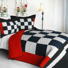 Unique kids bedding sets and bedding collections for girls and boys. Kids comforters, quilt sets, kids duvet covers and bedroom accessories. Boy Car Room, Race Car Room, Racing Bedroom, Car Bedroom, Kids Bedroom, Master Bedroom, Bed Comforter Sets, Kids Bedding Sets, Unique Kids Beds