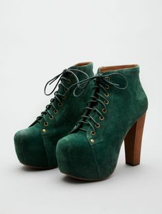 Jeffrey Campbell Lita in Forest Green Suede for fall!