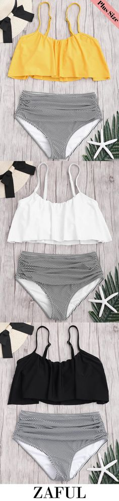 Up to 80% OFF! Plus Size Striped High Waisted Bikini Set. #Zaful #Plussize #Swimwear  Zaful,zaful outfits,zaful dresses,spring outfits,summer dress,Valentine's Day,easter,super bowl,st patrick's day,cute,plus size,plus size fashion,plus size swimsuits,plus size outfits,plus size dress,bathing suit,swimsuits,one pieces,swimwear,bikini,one piece swimwear,beach outfit,high waisted swimsuit,tankini,high waisted swimsuit,swimwear modest,swimsuit modest,cover ups @zaful Extra 10% OFF Code:ZF2017