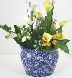 Traditional-Blossom-Pattern-Ceramic-Fish-Bowl-Planter-In-Shades-Of-Blue-MB004B