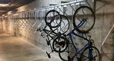 Examples of great bike rooms with tips and tricks to make your bicycle parking project a success. Vertical Bike, Bike Room, Bike Parking, Fitness Design, Bike Trails, Bicycle, Bike Storage, Storage Room, Rooms