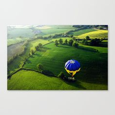 Above The Shires Canvas Print by alexandracummings