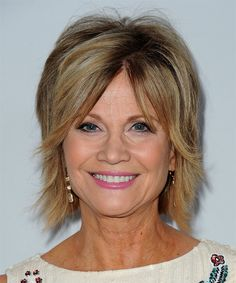 Markie Post Short Straight Casual Hairstyle - Dark Blonde Hair Color with Light Blonde Highlights Short Straight Haircuts Casual Hairstyles, Undercut Hairstyles, Trending Hairstyles, Easy Hairstyles, Hairstyle Short, Light Blonde Highlights, Dark Blonde Hair Color, Short Straight Haircut, Straight Hairstyles