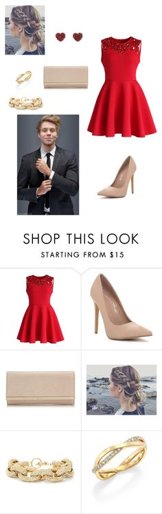 """5sos preference- Date night with Luke"" by kellimichele7 ❤ liked on Polyvore featuring Chicwish, Jimmy Choo, Slate & Willow and De Beers"