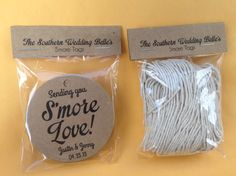 Smore Wedding Favor Wedding Favor Smore Favor Tags by TheSWBelles