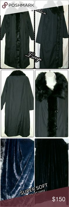 "💥STUNNING💥 WATER RESISTANT FAUX FUR COAT!! Gorgeous full length coat by Dennis Basso. Size large! It has 5 large 1"" diameter buttons, 2 pockets that are front angled, faux fur pointed collar fur down the front opening. The inside is covered in super soft faux fur! Fully lined!! To top it all off it is also water resistant!! All Daniel Basso's coat are high quality, hand made!! Length is 48.5"" waist is 48"" sleeves are 25"" feel free to ask any other questions!! Daniel Basso Jackets & Coats…"