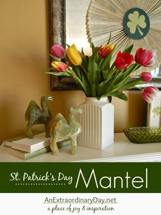 Patrick's Day Home Decor for the Mantel :: Whimsical decor with book pages :: St. Rental Home Decor, Rental Decorating, Diy Home Decor, Decorating Ideas, Book Page Art, Book Pages, Home Crafts, Diy Crafts, Book Page Wreath