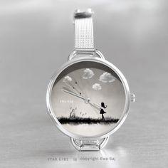 Star Girl Classic Obłoki-zegarek w Ewa Saj na DaWanda.com