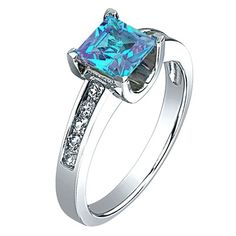 I LOVE this ring!  Gorgeous!! ~ Blue Topaz and White Sapphire Ring