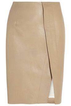 Acne Studios Kay leather skirt   NET-A-PORTER