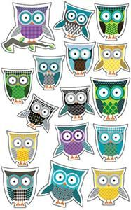 #Owls Shape #Stickers by Renewing Minds