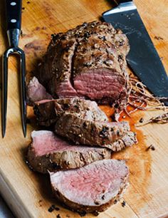 Balsamic roasted beef tenderloin...super easy and delicious!