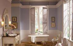 Shabby Chic lilac Bathroom