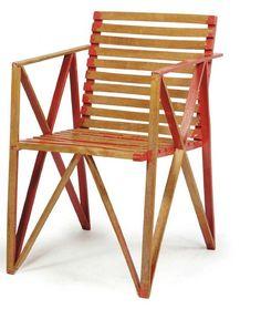 Gerrit Thomas Rietveld (1888-1964) – Slatted Beechwood Chair (1942) probably executed by Moolenbeek & Partners.