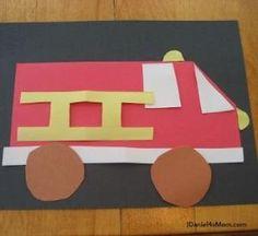 Carro de bombeiros do Artesanato para a Semana de Prevenção de Incêndios ou a qualquer momento você decidir fazer Caminhões por Divonsir Borges