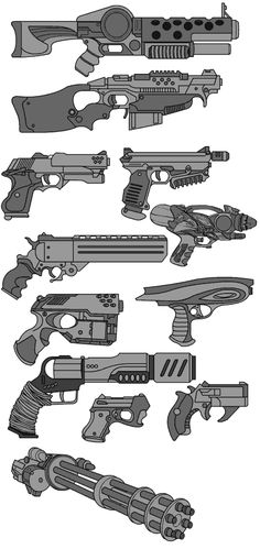 Drawing Tips gun drawing Anime Weapons, Sci Fi Weapons, Weapon Concept Art, Weapons Guns, Fantasy Weapons, Anime Art Fantasy, Design Reference, Art Reference, Drawing Tips