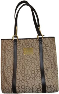Women's Calvin #Klein Purse #Handbag Signature Tote Khaki/Brown on the etrendzshop #Amazon store now!