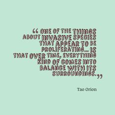 Tao Orion, author and permaculture educator points out that nature will eventually become one with the invasive species around it. Permaculture, Tao, Author, Education, Nature, Naturaleza, Writers, Onderwijs, Nature Illustration