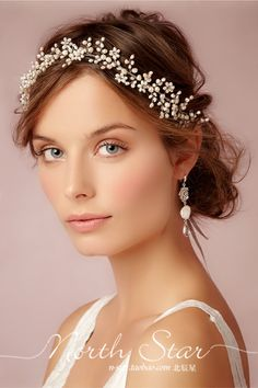 Новые ручной работы Европейский стиль украшений свадебный жемчуг головной убор…