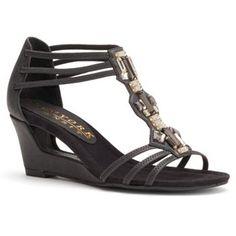 New York Transit Forcast Women's T-Strap Wedge Sandals