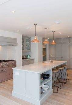 Copper Coolicon Pendant Lights in contemporary kitchen by OnCraft Interiors   Artifact Lighting